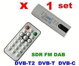 1set x USB DVB T2 PC Receiver Compatible DVB T2 DVB T DVB C SDR FM DAB
