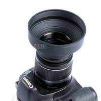 62mm 3 Stage Rubber lens Hood for Nikon Canon Sony Olympus Pentax and All 62mm Lens with Filter Thread 3 in 1