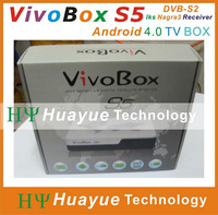 android iptv receiver combo dvb-s2 receiver vivobox s5 twin tuner sks and free iks for south america free shipping