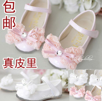 Free shipping Child leather female child leather princess single shoes flower girl formal dress shoes child leather