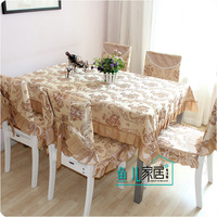 Rustic cotton fabric table cloth dining table cloth chair cover cushion dining chair set chair pad triangle set