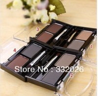 Free Shipping 4pcs/lot  Fashion Mother Home Two-Color Eyebrow Waterproof 1 Pack Two Color  with brush