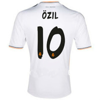 A+++ Thailand 2014 Real Madrid 10# OZIL Original Font home soccer jersey thai quality fan version football Shirt logo emborided