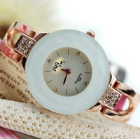 White disc bracelet wrist skin with fashionable watch the clock - 64545