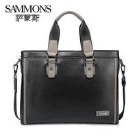 2013 New style cowhide briefcase High quality genuine leather shoulder bags men's bag