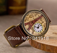 2013 New Fashion Women Watch Tower Cowhide watch the Trend of Personality Decorative Watch Students watch