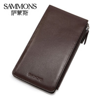 2013 fashion quality genuine leather card holder Kraft first layer cowhide clutch  wallet for men