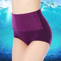 Panties women's 100% cotton sexy seamless modal mid waist high waist postpartum abdomen drawing butt-lifting body shaping