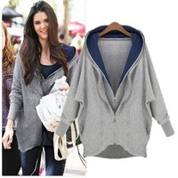 2013 autumn fashion all-match casual spring and autumn with a hood sweatshirt female outerwear autumn and winter