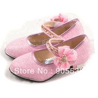 Female child shoes2013 fashion high-heeled single shoes child high heel dance shoes-001