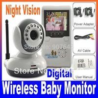 "Digital boy 2.4""TFT 2.4G Wireless Digital Baby Monitor IR Video Talk one Camera Night Vision video / Baby Monitor Free Shipping"