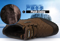 Free shipping 2013 winter new fashion men's snow boots business formal leather boots cotton-padded fur boots lace up shoes fb22