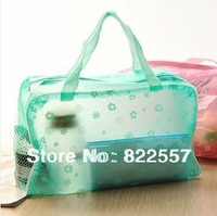 Light floral transparent waterproof cosmetic bath supplies essential travel pouch free shipping