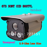 673  Waterproof Bullet  Outdoor IR CCTV Camera HD SONY CCD 700 TVL IR Cut Come with Night Vision Security  Like Dahua Camera