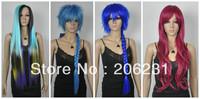 New Long MAGI Blue Anime Cosplay Costume Wig 10pcs/lot Free shipping mixed order