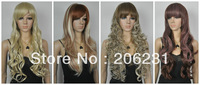 New long Wavy Wigs synthetic fashion wigs for women10pcs/lot Free shipping mixed order