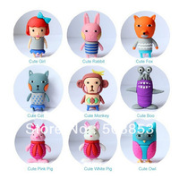 1 Pcs Wholesales New Cartoon Genuine Girls' Gift Model usb 2.0 memory flash stick pen drive 1gb/4gb/8gb/16gb/32gb