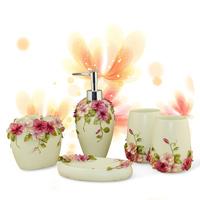 Bathroom set bathroom suite three-dimensional flowers