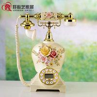 Victoria telephone three-dimensional flower rustic fresh fashion household landline telephone