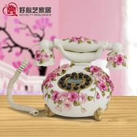 Fashion phone rustic telephone fashion round telephone wired telephone