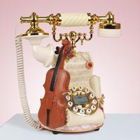 Home telephone caller id violin jewelry telephone