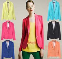 Wholesale Hight Quality Brand Designer Za 2013 Fashion  XS-XL Women Autumn White Red Blue Shorts Blazer & Suits  Candy  blasers