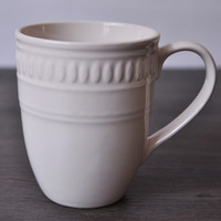 MUG CUP China white ceramic glass   Large Capacity for TEA/Coffe Relief Design Classic
