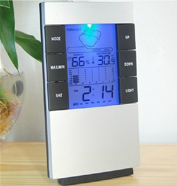 Alarm clock Weather Station LED digital clock Temperature table clock luminous lamp alarm clock(China (Mainland))