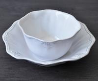 Fashion retro EuropeanStyle classical China ceramic kitchen utensils white Bowl Beautiful and durable