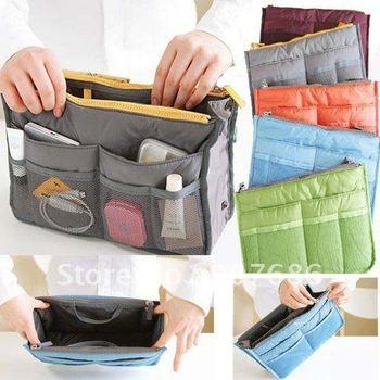 Women Travel Bag Insert Handbag Purse Large liner Organizer Bag Storage Bags in Bag Cosmetic Bag Amazing 5 Colors #3462