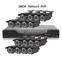 CCTV 16CH Security NVR HD 2.0 Megapixel 4-9mm Bullet Network IP Camera System