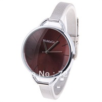 Hot Sale Brand Womage Women Watches Simply Fashion Ladies Quartz Watch Women Dress Watches Slim Silver Steel Strap Casual Watch