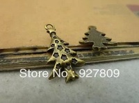 Free Shipping 100pcs 14*25mm Ancient Bronze Alloy Christmas tree  Diy handmade accessories