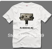 Radiohead radio head band t-shirt. shirts . 100% Cotton custom logo,t-shirt printing,make your own t-shirt  Free shipping