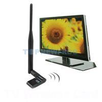 T2N2 300Mbps IEEE 802.11n WiFi TV USB Wireless Lan Card Adapter Black