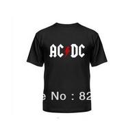 ACDC Crative Printed shirts . 100% Cotton custom logo,t-shirt printing,make your own t-shirt  Free shipping