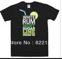 Cocktail t shirt - Mojito shirts . 100% Cotton custom logo,t-shirt printing,make your own t-shirt  Free shipping