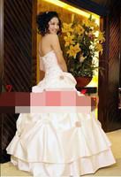 wholesale Plus Size Wedding Dress 2014 Tube Top Bandage Wedding Dresses White Wedding Gowns Princess