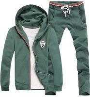 New arrivals men winter hoodis suit embroidery design men sport set tracksuits free shipping C9186
