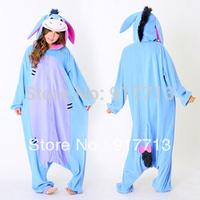 Free Shipping,2013 New Anime Pyjamas Animals Onesie Eeyore Donkey Cute Cosplay Costume Pajamas Unisex Adult Sleepwear