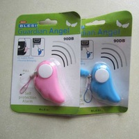 100pcs/lot Mini Personal Alarm Guardian Angel Wings Anti Lost for phone Bag kids girls and so on with retail package