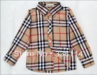 New brand children's clothing plaid shirt spring and autumn shirt male child long-sleeve shirt 100% cotton thin
