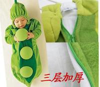Bellne three- plus cotton thick pea sleeping bag sleeping bag baby anti Tipi spot shape