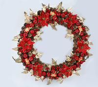 30cm christmas pinecone garishness rattan christmas decoration small multi-colored garland