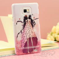 For samsung   i9100 2-illust 9108 phone case protective case girl scrub shell colored drawing mobile phone case