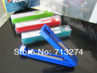 Free shipping 24pcs/lot pen shape  portable plastic tube filling machine cigarette rolling machine Mixed colors Smoking