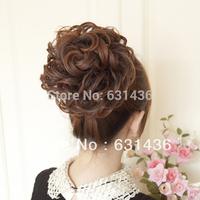 2014 Fashion Wig Flowers Dull Yarn Meatball Head Fake Hair Wig Bag Marriage Hairpiece Wedding Accessories Drop Shipping