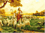 Free shipping DIY unfinished Cross Stitch kit Christian Jesus grazing JDJ-D027