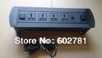 Desktop socket Universal  outlet*4+ cat 5, with USA plug  netbox  table box desk box, table socket