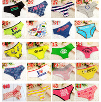 famous brand High Quality VS Panties women, victorias PINK lace letters underwear striped briefs,sexy lingerie wholesale 6ps/lot